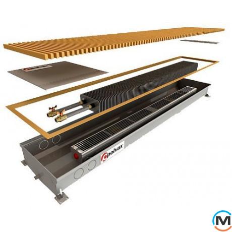 Внутрипольный конвектор Polvax KV.D.PLUS.300.1000.125, Тип конвектора: С вентилятором, Корпус конвектора: Нержавеющая сталь, Кол-во теплообменников: 1, Напряжение вентилятора: 12 V, Глубина (мм): 125, Ширина (мм): 300, Длина (мм): 1000, фото
